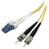 Optický PatchCord Single mode (9/125), LC/ST, 1m, economy