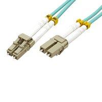 Optický Patchcord Multi mode (50/125), LC-LC/15m, modrozelený, economy