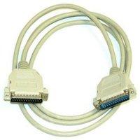 Datový kabel paralelní, 25 pin M- 25 pin M, 2m, laplink, šedý