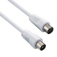 Kabel Koax (9,5mm) M- Koax (9,5mm) F, 2m, 75 Ohm, šedá