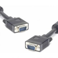 Kabel VGA (D-sub) M- VGA (D-sub) M, 5m, stíněný, černá, Logo, blistr