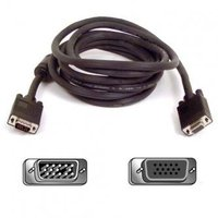 Kabel VGA (D-sub) M- VGA (D-sub) F, 15m, stíněný, černá