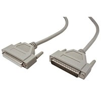 Datový kabel 37 pin M- 37 pin F, 5m, 37 žil, šedý, stíněný