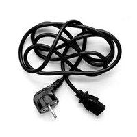 Síťový kabel 230V napájecí, CEE7 (vidlice)-C13, 3m, VDE approved, černý, Logo, blistr