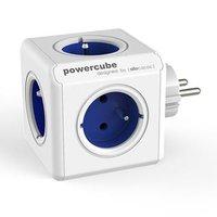 Rozbočovací zásuvka 240V, CEE7 (vidlice)-POWERCUBE, 0.1m, ORIGINAL, modrá, POWERCUBE, 5 zásuvek, dět