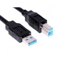 Kabel USB (3.0), USB A M- USB B M, 1.8m, černý