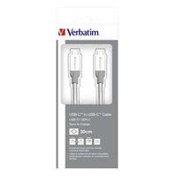 Kabel USB (3.1), USB C M- USB C M, 0.3m, stříbrný, Verbatim, box, 48867