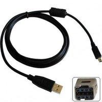 Kabel USB (2.0), USB A M- 8 pin M, 1.8m, černý, Logo, MINOLTA