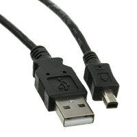 Kabel USB (2.0), USB A M- 4 pin M, 1.7m, černý, Logo, blistr