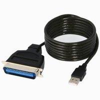Kabel USB (1.1), USB A M- LPT M, 2m, černý, IEEE 1284