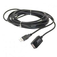 Kabel USB (2.0), USB A M- USB A F, 12m, aktivní prodloužení, černý