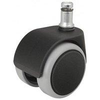 Kolečka pro herní křesla pogumované, černé, průměr čepu: 11mm, v balení 5ks