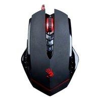 A4tech Myš Bloody V8A, 3200DPI, optická, 7tl., 1 kolečko, drátová USB, černá, herní, CORE 3, paměť 1
