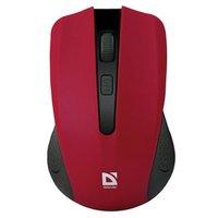 Defender Myš Accura MM-935, 1600DPI, 2.4 [GHz], optická, 4tl., 1 kolečko, bezdrátová, červená, 2 ks