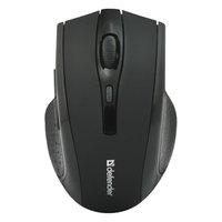 Defender Myš Accura MM-665, 1600DPI, 2.4 [GHz], optická, 6tl., 1 kolečko, bezdrátová, černá, 2 ks AA