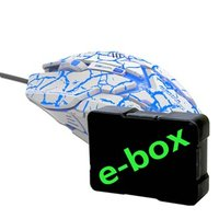 E-Blue Myš Auroza Gaming, 4000DPI, optická, 6tl., 1 kolečko, drátová USB, bílá, herní, e-box