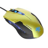 E-Blue Myš Auroza G, 3000DPI, optická, 6tl., 1 kolečko, drátová USB, zelená, herní