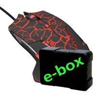 E-Blue Myš Mazer Pro, 2500DPI, optická, 6tl., 1 kolečko, drátová USB, černo-červená, herní, e-box