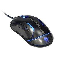E-Blue Myš Auroza Gaming FPS, 8200DPI, laserová, 6tl., 1 kolečko, drátová USB, černá, herní, RGB pod