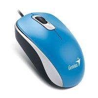 Genius Myš DX-110, 1000DPI, optická, 3tl., 1 kolečko, drátová USB, modrá, standardní, univerzální