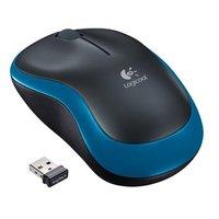 Logitech Myš M185, 1000DPI, 2.4 [GHz], optická, 2tl., 1 kolečko, bezdrátová, modrá, 1 ks AA, k noteb