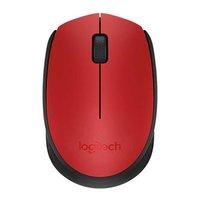 Logitech Myš M171, 1000DPI, 2.4 [GHz], optická, 3tl., 1 kolečko, bezdrátová, červená, 2 ks AA, k not