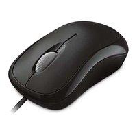 Microsoft Myš Basic Optical Mouse, 800DPI, optická, 3tl., 1 kolečko, drátová USB, černá, klasická