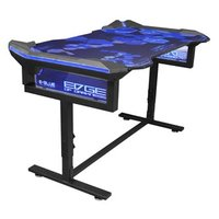 E-Blue Herní stůl 135x78,5x69,5 cm, RGB podsvícení, výškově nastavitelný, s podložkou pod myš
