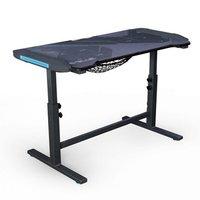 E-Blue Herní stůl 113cm x 59,5cm x 74 cm, podsvícený, nastavitelná výška