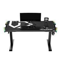 ULTRADESK Herní stůl FORCE - bílý, 166x70 cm, 76.5 cm, s XXL podložkou pod myš, držák sluchátek i ná