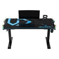 ULTRADESK Herní stůl FORCE - modrý, 166x70 cm, 76.5 cm, s XXL podložkou pod myš, držák sluchátek i n