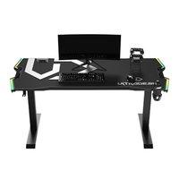 ULTRADESK Herní stůl FORCE - šedý, 166x70 cm, 76.5 cm, s XXL podložkou pod myš, držák sluchátek i ná