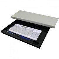 Držák klávesnice pod stůl, černý, plast, Logo, černá
