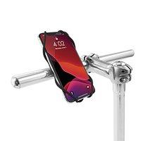 """Držák mobilu Bone Bike Tie 3, na kolo, nastavitelná velikost, černý, 5.8-7.2"""", silikon, k připe"""