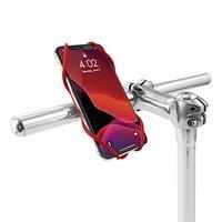 """Držák mobilu Bone Bike Tie 3, na kolo, nastavitelná velikost, červený, 5.8-7.2"""", silikon, k při"""