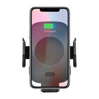 Držák mobilu do auta, s bezdrátovým nabíjením, motorické uchycení, senzor pohybu, Qi, černá