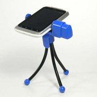Držák mobilu Logo na stůl, modrý, termoplast, pro jakýkoliv mobilní telefon, modrá, mobil