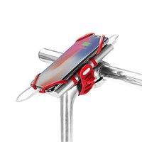 Držák mobilu a powerbanky Bone Bike Tie 3 Pro Pack, na kolo, nastavitelná velikost, červený, 4-6.5&q