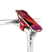 """Držák mobilu Bone Bike Tie 3 Pro, na kolo, nastavitelná velikost, červený, 5.8-7.2"""", silikon, n"""