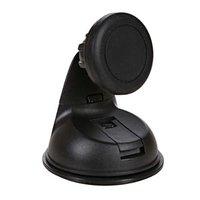 Magnetický držák mobilu(GPS) do auta, nastavitelná šířka, černý, plast, Swissten, přísavka na sklo,