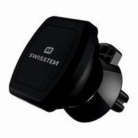 Magnetický držák mobilu(GPS) do auta, černý, plast, Swissten, do ventilace, kloubový, černá, mobil