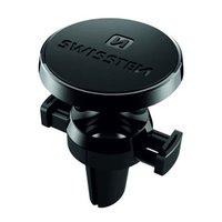 Magnetický držák mobilu(GPS) do auta, S-Grip AV-M8, černý, kov, Swissten, do ventilace, černá, mobil
