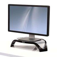 Podstavec Smart Suites pod monitor, nastavitelná výška, černo-stříbrný, plast, 10 kg nosnost, Fellow