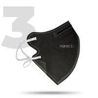 Nano respirátor, FFP2, černý, univerzální, 3ks, Nanolab