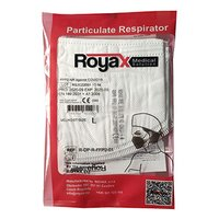 Respirátor, FFP2, bílý, 4-vrstvý, univerzální, 5ks, Royax
