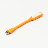 Světlo k notebooku, pogumované, oranžové, USB