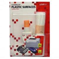 Čisticí sada na plasty, rozprašovač 50ml, 10 ubrousků, 3 aplikátory, LOGO