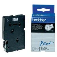 Brother originální páska do tiskárny štítků, Brother, TC-291, černý tisk/bílý podklad, laminovaná, 7