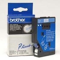 Brother originální páska do tiskárny štítků, Brother, TC-293, modrý tisk/bílý podklad, laminovaná, 7