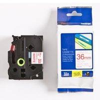 Brother originální páska do tiskárny štítků, Brother, TZE-262, červený tisk/bílý podklad, laminovaná